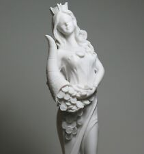 Goddess of Wealth Tyche Lady Luck Fortuna Statue Cast Marble Sculpture 11.8΄΄