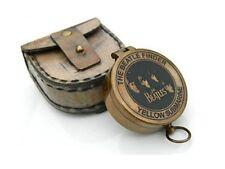 Poem Compass Antique Yellow Submarine Beatles Finder Face Compass W/Case Replica