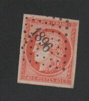 👓👓👓👓👓 Timbre de France N° 5, 40 c orange Cérès oblitéré pc 1896 👓👓👓👓👓