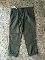 NWT GAP SOFT TWILL Olive Green Cropped/Ankle  PANTS size 8 NEW E99