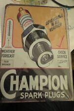 champion spark plugs tin metal sign MAN CAVE brand new
