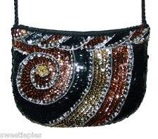 Purse Shoulder-bag, Magid, Evening Sequins Beaded sparkle