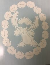 DISNEY STITCH Lilo and Stitch WITH WREATH OF LEAVES DECAL for Cars,windows,truck