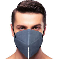 10 Pack Gray Face Mask 5 Layers MADE IN USA Filtration>95% Folding Respiratory