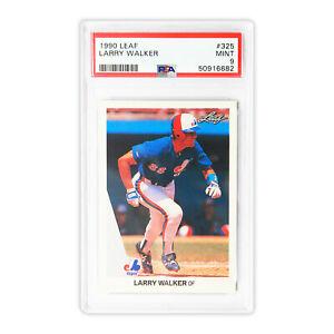 1990 Leaf  Larry Walker #325  PSA 9  POP 2,553  Cert 50916682