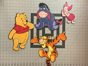 Vintage 80s/90s Winnie the Pooh & Friends Nursery Wall Hanging Art Pressboard