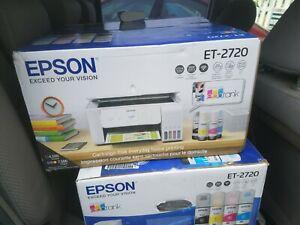Epson ECOTANK ET-2720 Wireless All-In-One Color Printer - White NEW