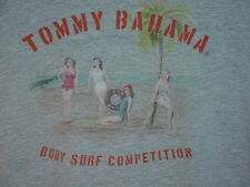 TOMMY BAHAMA RELAX PIN-UP GIRLS NOSTALGIA BEACH T SHIRT L LARGE SURF 2-SIDED