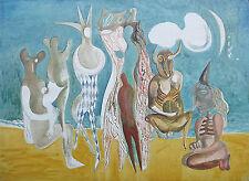 "Australian Oil painting on canvas ""Old Circus Clowns"" by Yuri Stepanuk 95x125 cm"