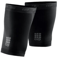 CEP Thigh Quad Compression Sleeves Unisex Black Allsports One Pair