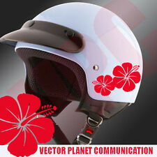 adesivi tuning  stickers art  fiori flower hibiscus stickers auto moto casco