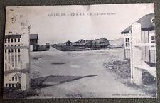 CPSM. SAINT EULIEN. 51 - 372e R.A.L.V.F.  L'Entrée du Parc. 1930. Locomotive