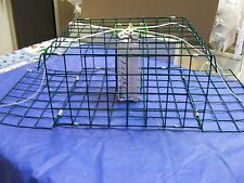 E-Z Catch *Patent Folding Crab Pot PVC Large Green Two Door American Made Trap