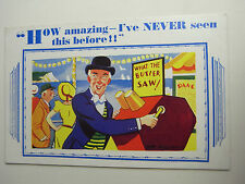 Risque Comic Postcard 1930s WHAT THE BUTLER SAW Mutoscope Pier Penny Arcade