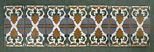 Mensaque Rodriguez Spanish Vintage 7-Tile Panel Spain