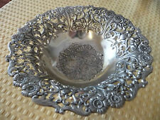 Silverplate Candy Nut Footed Bowl with Fancy Detailed