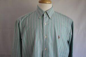 RALPH LAUREN Men's Long Sleeve Classic Fit Oxford Button Down Dress Shirt Size M