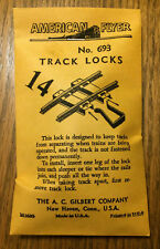 American Flyer #693 TRACK LOCKS....(14) PER  BAG ......... $14.99 EACH!