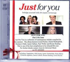 (EK258) Just For You, 40 Classic Lovesongs - 2004 double CD