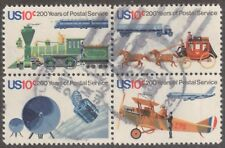 Scott #1572-75 Used Se-tenant Block of 4, US Postal Service Bicentennial