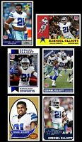 2016 SET of 6 Ezekiel Elliott Rookie cards Dallas Cowboys New Star Rookie