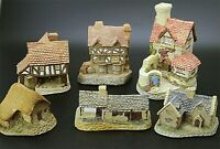 Lot of 6 David Winter Cottages CHRISTMAS