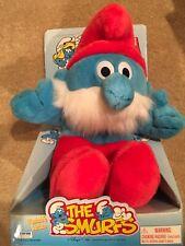 Musical Tummy Huggin Papa Smurf 1996 new in box