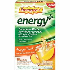Emergen-C Energy+ Mango-Peach Flavor Dietary Supplement Drink Mix .33 oz