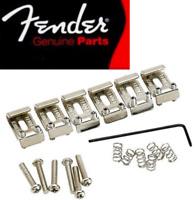 NEW 6 Saddles Fender Vintage Stratocaster 0992051000 chrome