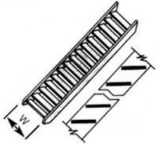 Plastruct STAS-2 Fine Line Plastic Stairs (Pk2) 1:200 N Gauge
