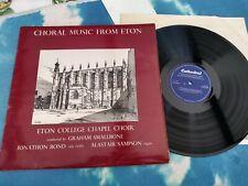 CRL 826 Eton College Chapel Choir, Graham Smallbone, Jonathan Bond  /Sampson NM