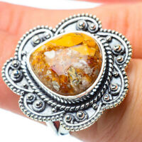 Large Brecciated Mookaite 925 Sterling Silver Ring Size 6 Ana Co Jewelry R30672F