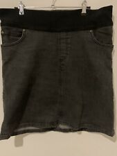 RIPE MATERNITY Womens Ladies Black Denim Stretch Skirt Size Medium