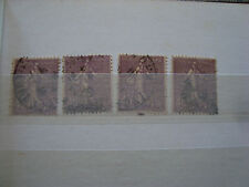 FRANCE - timbre yvert et tellier n° 197 x4 obl stamp french