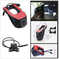 HD WiFi Car DVR & Rear Camera Night Vision G-Sensor Wifi Vehicle Video Dash Cam