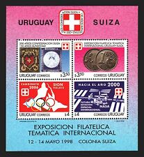 200 ANIV SWITZERLAND SUISSE SPACE COINS OLYMPIC RAYON URUGUAY Sc #1722 MNH STAMP