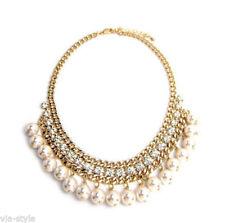 Modeschmuck-Halsketten & -Anhänger für Damen-Perle Messing