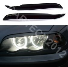 Fits BMW E46 3 Series 1998-2004 Headlights Eyebrows , ABS Plastic , tuning