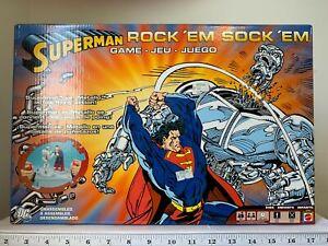 DC Comics SUPERMAN ROCK 'EM SOCK 'EM ROBOTS Game (2005) HTF Metallo