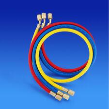 "60"" Manifold Gauge Set Hvac Ac Refrigeration Charging Hoses R410a R134a R22 New"
