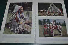 1927 THE BLACK HILLS magazine article, SOUTH DAKOTA natives history color photos