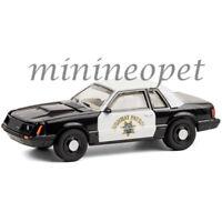 42930 C 1982 FORD MUSTANG SSP CHP CALIFORNIA HIGHWAY PATROL POLICE CAR 1/64