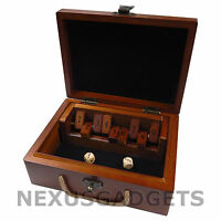 Shut the Box Board Game Set Wood Wooden Number Fun Drinking Games Dice VINTAGE