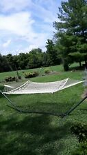 pawleys island cotton rope hammock and green metal frame local pickup only