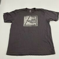 The North Face T-Shirt Mens XXL Brown Spell out Logo Short Sleeve Casual