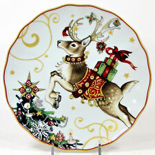 "Williams-Sonoma TWAS THE NIGHT BEFORE CHRISTMAS 8.25"" Salad Plate Reindeer"