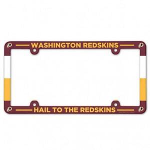 Washington Redskins Plastic License Frame [NEW] NFL Tag Auto Car Plate Truck