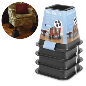 Durable Furniture Risers Bed Sofa Chair Table Legs Lift Up Dorm Extra Storage