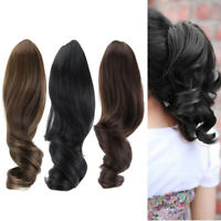New Fashion Claw Clip On Wrap Ponytail Clip In Hair Extension Wavy Curly