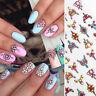 3D Nagel Aufkleber Nail Stickers Flowers Transfer Decals 3D Dekoration Nail Art